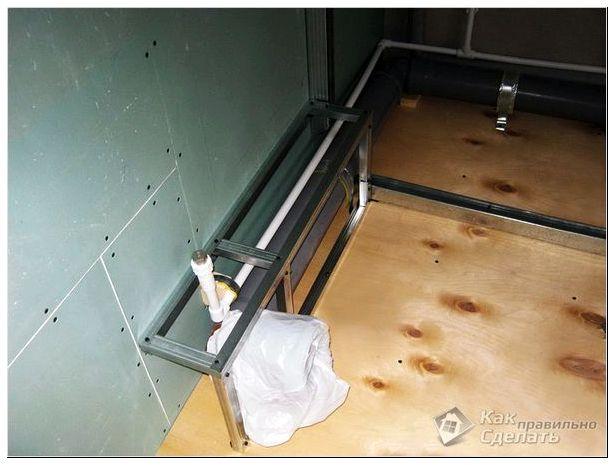 Как сделать короб для труб в ванной Клуб ремонта