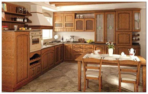 Кухни из натурального дуба черешни акац
