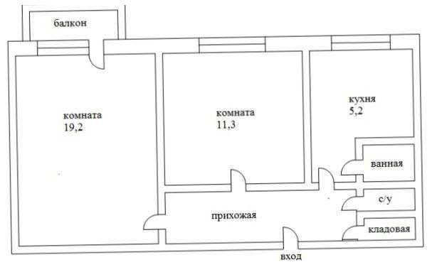 Дизайн интерьера 2-х комнатной квартиры свободной