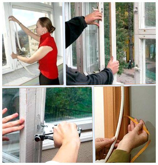 как утеплить пластиковые окна своими руками с улицы