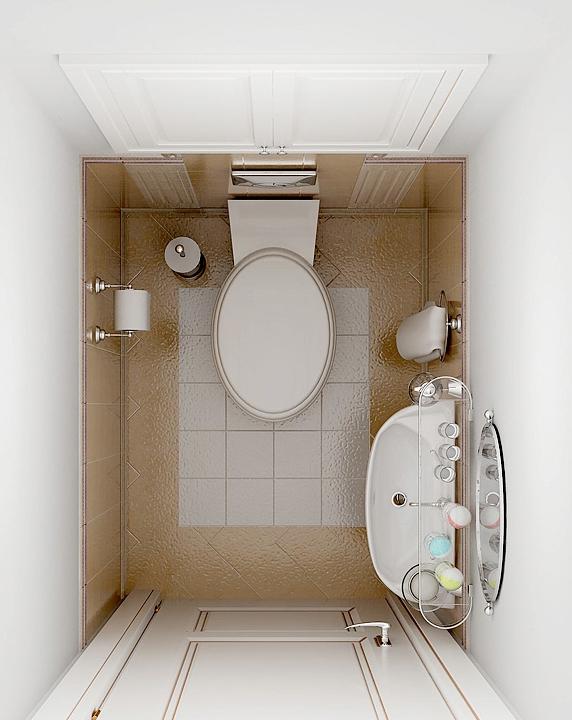 Дизайн ванной комнаты и туалета небольшого размера 16