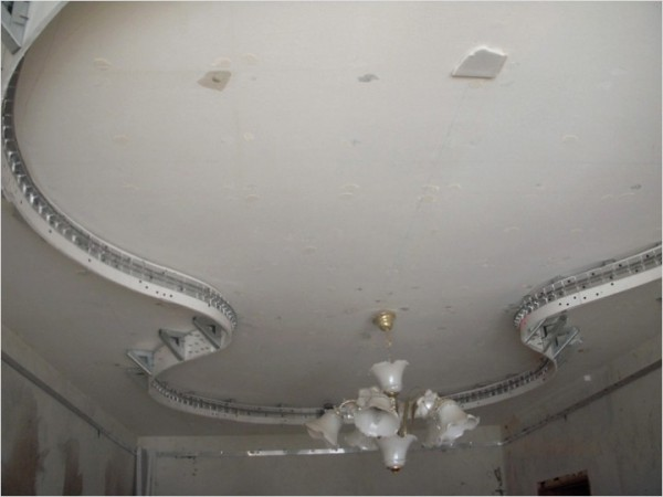 Как сделать двухуровневый потолок видео