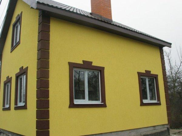 Фото частных домов отделка фасада
