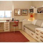 Диван для детской комнаты, другая мягкая и корпусная мебель в сочетании с дверями