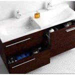 Двойная раковина с тумбой для ванной