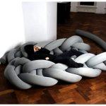 Гигантское вязание: мебель и ковры phat knits