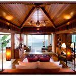 Интерьер деревянного дома из бруса внутри