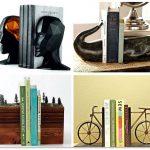 Интересные держатели для книг на полке