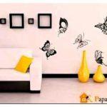 Как обновить дизайн квартиры своими руками с помощью наклеек на стены? примеры с фото!