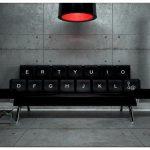 Компьютерный диван клавиатура qwerty