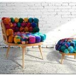 Обивка стульев шелковыми шарами из губки