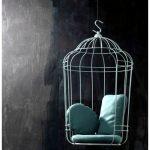 Подвесное кресло в виде клетки для птиц