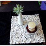 Салфетки и коврик из камешков своими руками