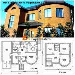 Удачно выбранный план дома с гаражом полностью удовлетворит потребности его жильцов