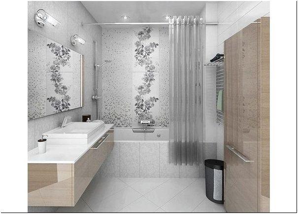 Фото 2 – Стильная ванная небольших размеров