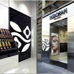 Потрясающий дизайн магазина элитной косметики deborah milano. италия