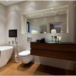 Натяжной потолок для ванной комнаты — 30 фото идей