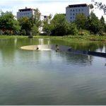 Прекрасная смотровая площадка, расположенная ниже уровня воды, vocklabruck, австрия