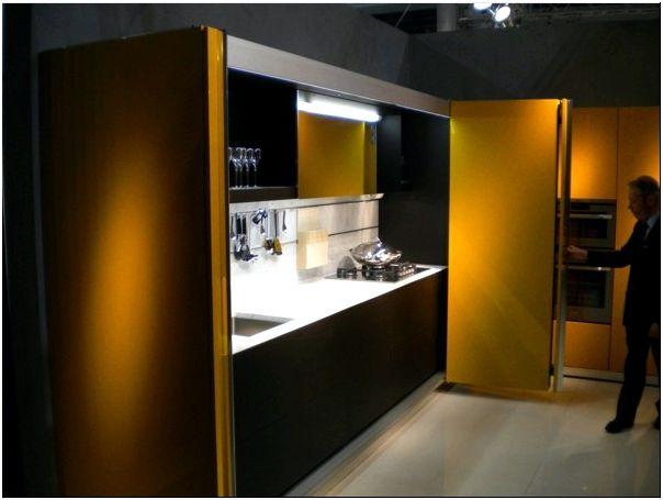 чёрно - жёлтая кухня