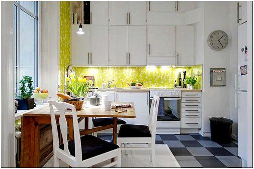 дизайн маленькой квартиры-кухня_2