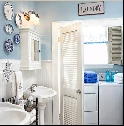 Фото 2 - Жалюзийные двери в качестве двери ванной комнаты
