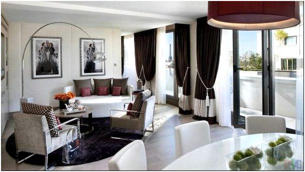 Фото — 45 Сочетание белоснежного с кофейными оттенками создает благоприятную атмосферу в гостиной