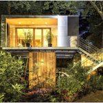 Интересный дизайн дома на дереве в берлине, германия