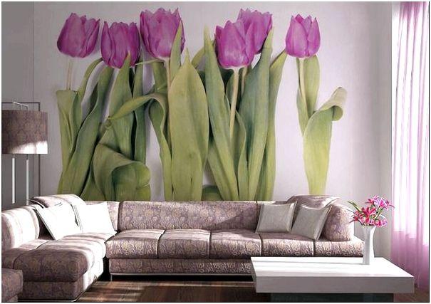 Фото — 52 Цветы на стену