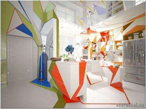 дизайн интерьера кухни вдоме