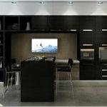 Модный тренд на использование черного цвета в оформлении кухни