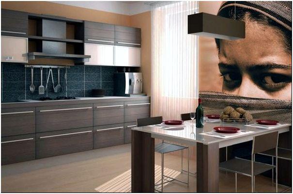 Необычные фотообои для кухни