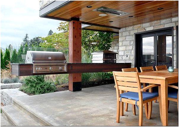 Фото 20 — Универсальная веранда-кухня с зоной столовой