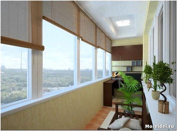 дизайн узкого балкона