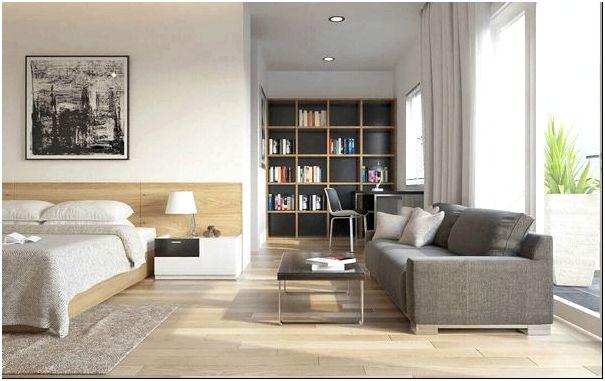 Фото — 49 Идеи интерьера для гостиной спальни