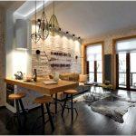 Очарование старой фабрики – интерьер в стиле лофт в маленькой квартире