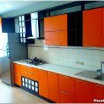 Креативный дизайн оранжевой кухни