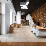 Оригинальный дизайн книжного магазина: духовная связь прошлого и современности