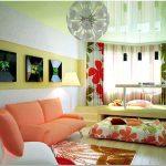 Дизайн гостиной спальни — выбор мебели и освещения