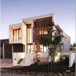 Прекрасная двухэтажная вилла в современном стиле — elysium 154 в национальном парке нуса, квинсленд, австралия. дизайн студии bvn architecture