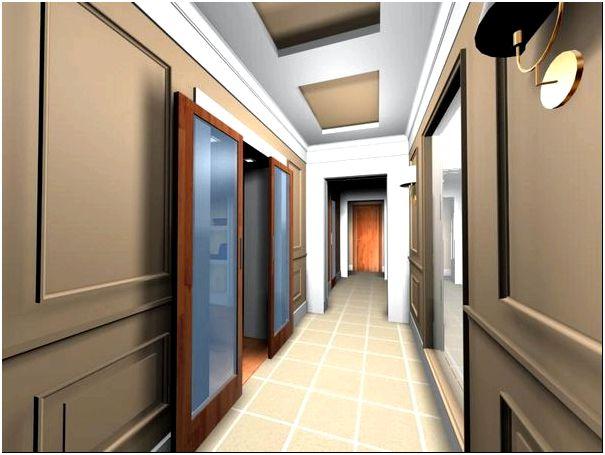 Фото — 22 Строгий дизайн длинного коридора