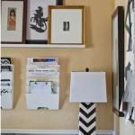 Оформление домашнего офиса, расположенного в одном пространстве со столовой на ранчо в калифорнии