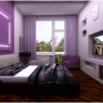 Интерьер спальни узкой и… очень узкой (119 фото)