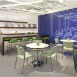 Обновлённый дизайн выставочного зала для производителя офисной мебели stylex от perkins + will, чикаго