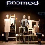 Оригинальный дизайн бутика модной одежды promod, будапешт
