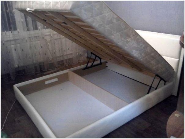 Фото 3 - Пример кровати с мягкой обивкой, оснащенной каркасным матрасом