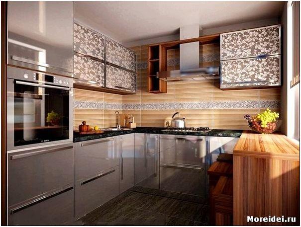 серая кухня дизайн фото