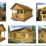 Проекты срубов дома из бревна