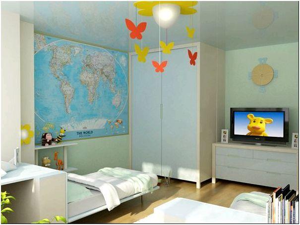 Спальня и рабочее место в детской