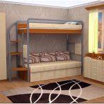 Различные двухъярусные кровати: для взрослых и детей (104 фото)