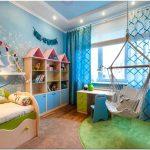 Голубая сказка для юной царевны – интерьер детской спальни для девочки от кати герман
